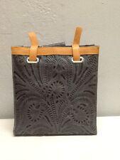 American West- Tall Sky Blue w/ Brown Trim- Leather Handbag  -NWT-HANDMADE