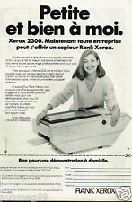 Publicité advertising 1981 Le Copieur Rank Xerox 2300