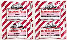 4 pack Fisherman s Friend CHERRY Sugar Free Lozenges Cough Cold Flu Sweeteners 2