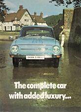 Skoda S100 L Saloon 1972-73 UK Market Foldout Sales Brochure
