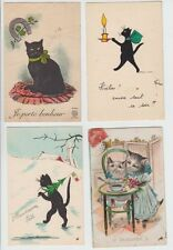 CHATS CATS KATZEN COLLECTION 17 ANIMAUX LOT OF BETTER Cartes Postales (part 15)