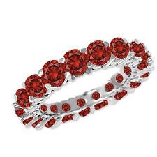 3.23 Carat Red SI2 Round Diamond Solitaire Ring 14K WG Valentineday Spl.Sale