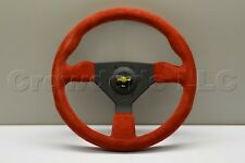 Nardi Personal Grinta Steering Wheel - 330mm - Red Suede with Black Spokes