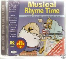 MUSICAL RHYME TIME CHILDREN'S KEY STAGE 1 LEARNING