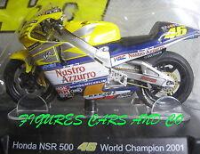 MOTO GP 1/18 HONDA NSR 500 # 46 COLLECTION  ROSSI WORLD CHAMPION 2001
