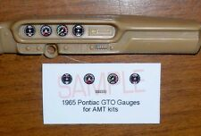 1965 PONTIAC GTO HARDTOP AND CONVERTIBLE GAUGE FACES for 1/25 scale AMT KITS