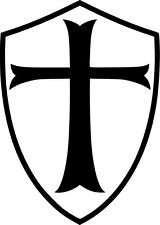 Templar Shield Vinyl Sticker Decal Freemason Knights Crusade Choose Size & Color