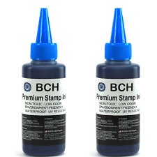 BCH Premium Stamp Ink Refill for Stamps or Stamp Pads 2 X 2.5 oz BLUE