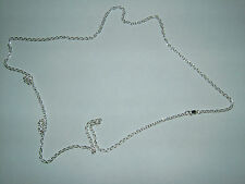 STERLING SILVER 32 INCH TRACE CHAIN 2.5MM THICK 15 GRAMS S159/32