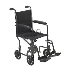 Wheelchairs Lightweight Folding Transport Aluminum Medical Drive Fixed Full Arms