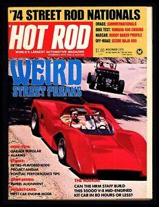 "Vintage 1974/Nov ""Hot Rod Magazine"" Weird Street Freaks. Cover Car: The Manta"
