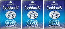 3x plata a largo plazo de Goddard Polaco Pulido deslustre Paño De Limpieza-Libre P&P
