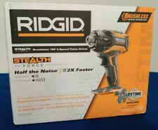 "RIDGID R86036 18-Volt Li-Ion Cordless Brushless 1/4"" 3-Speed Impact R86036B"