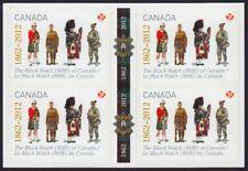 THE BLACK WATCH= MILITARY UNIFORM Pictorial Gutter BK BL 4 Canada 2012 #2578 MNH