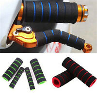 Motorcycle Bicycle HandleBar Grip + Brake Clutch Lever Soft Sponge Cover Yf