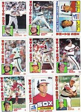 1984-85-86 Topps White Sox master team sets with traded Mint razor sharp