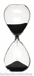 Masterclass Large 3 Minute Black Sand Traditional Hour Glass Egg Kitchen Timer