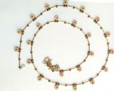 Hip Belly Waist Pearl Gold Tone Chain Kundan  Indian  Jewelry Indian