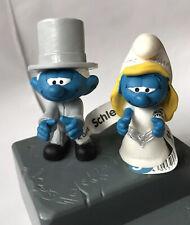 NEW BRIDE SMURFETTE & GROOM SCHLEICH PVC TOY FIGURES PEYO MINT UNUSED + TAGS!!!