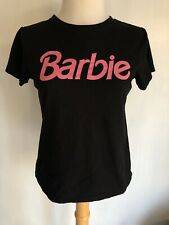 BARBIE (2018) Official Black Pink Logo Women's Crop Top T-Shirt Size Medium