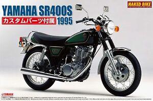AOSHIMA YAMAHASR400S 1995 Motorcycle kit 1:12 Naked Bike With custom parts Japan