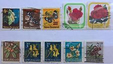 New Zealand Used Stamps - 10 pcs Assorted Stamps