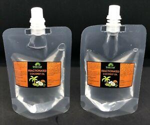 100% Pure Fractionated Coconut Oil Refill Plastic pack - 50 ML,100 ML,200 ML.