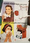 Lot of 2 STEVAN DOHANOS posters National Tuberculosis 1965 Cover Cough Good Food