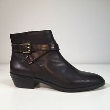 JONES NEW YORK Brown Leather WHITLEY Bootie 7.5 M New w/ Blemish $129 Ankle Boot