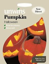 Unwins Pictorial Packet - Vegetable - Pumpkin Halloween - 8 Seeds