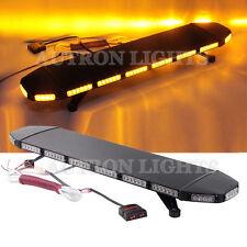 """96 LED 39"""" Amber Warn Traffic Advisor Beacon Flash Roof Strobe Light Bar 12/30V"""