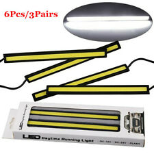 6X 12V White Drl Cob Led Strip Light Bar For Camping Caravan Boat Car Waterproof
