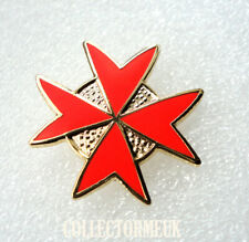 Pre-Owned Freemason Order of Malta Red Cross Pin Badge Knights Templar