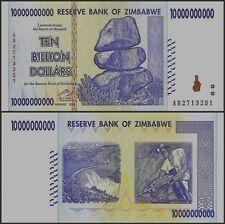 10 BILLION ZIMBABWE DOLLAR CIRCULATED AU. MONEY CURRENCY.*Trillion 20 50 100*