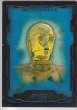 STAR WARS 2016 TOPPS MASTERWORK #11 C-3PO BLUE PARALLEL BASE CARD /199