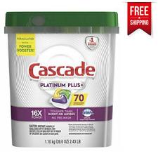 Cascade Platinum Plus Dishwasher Detergent ActionPacs - Lemon, 70 Count