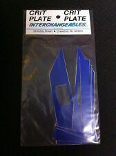 Blue CRIT PLATE INTERCHANGEABLES Pro Decal Sticker Set Old School BMX Number