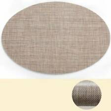 Kitchen Oval Heat Insulation Dining Table Placemat Table Washable Non-slip Mat
