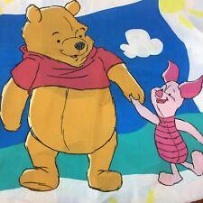 Winnie the Pooh & Piglet Twin Size Flat Sheet  Disney
