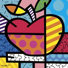 Romero Britto The Apple Fruit Abstract Children Kid Print Poster 11x14