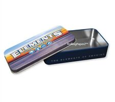 New! Elements Rolling Papers Tobacco Storage Tin Size: 4.6
