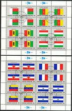 VN/UNO New York 316 - 331 gestempelde vellen   Vlaggen