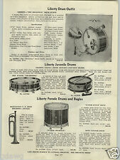 1938 PAPER AD Liberty Drum Drums Gibson Cromwell Mandolins Harmony Dobro