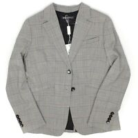 Brooks Brothers Sample Womens Blazer 8 Gray Glen Plaid Wool Jacket Business
