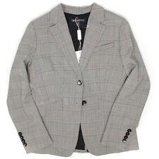 Brooks Brothers Sample Womens Blazer 8 Gray Glen Plaid Wool Jacket Business