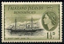 Falkland Islands Dep. 1954-62 SG#G28, 1.5d QEII Definitive Ship MH #D51915