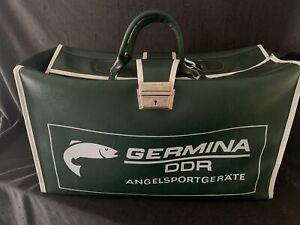 Vintage alte Tasche Germina DDR Angelsport Angeln Transporttasche Sporttasche