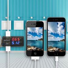 USB Dual-Display Strommessgerät Stromzähler Voltmeter Spannungsmesser Tester MI