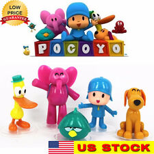 5pcs Pocoyo Zinkia Cake Decoration topper Playset Doll Figures Toys USA Shipper