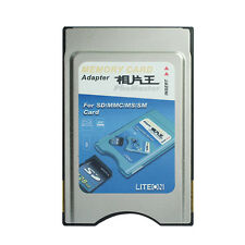 4 in 1 PC Card Adapter , Support SD SM MMC MS Card PCMCIA Card Adapter